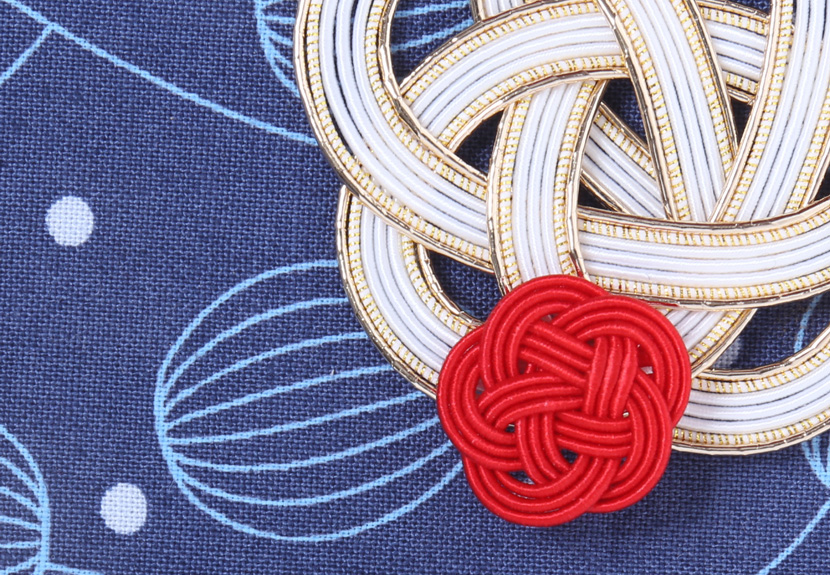ご祝儀袋 結姫 musubime 白梅(コットン)風船(紺)