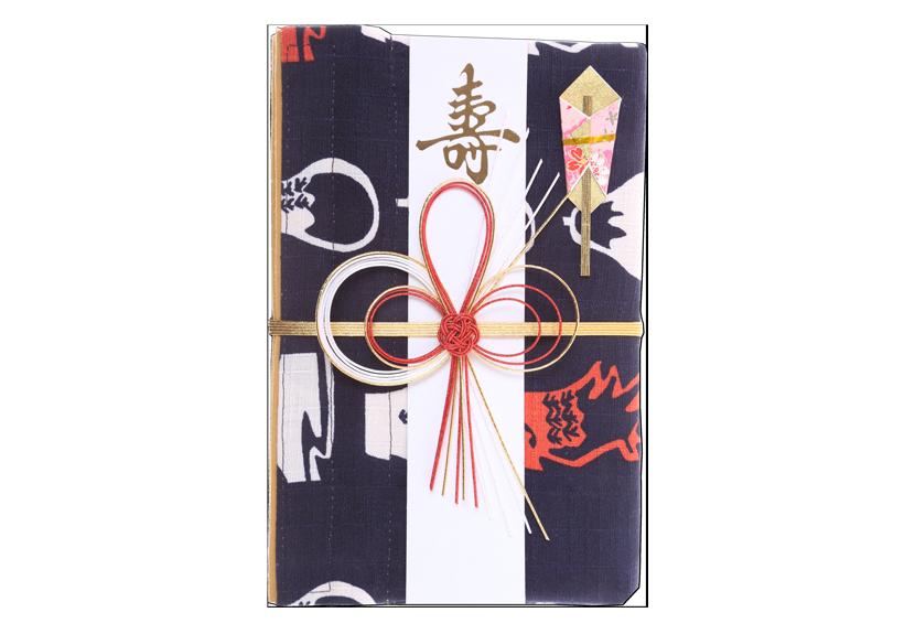ご祝儀袋 結姫 musubime 白梅(コットン)縁起夢藍