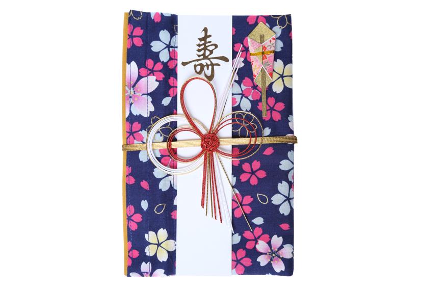 ご祝儀袋 結姫 musubime 白梅(コットン)夜桜華輝