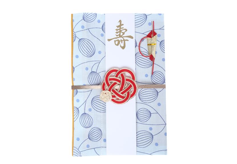 ご祝儀袋 結姫 musubime 白梅(コットン)風船(水色)