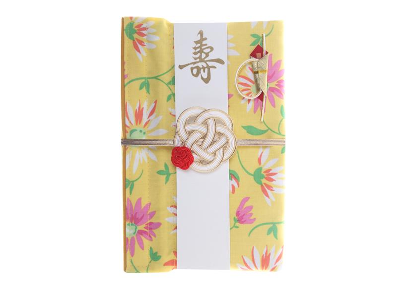 ご祝儀袋 結姫 musubime 白梅(コットン)花(黄色)