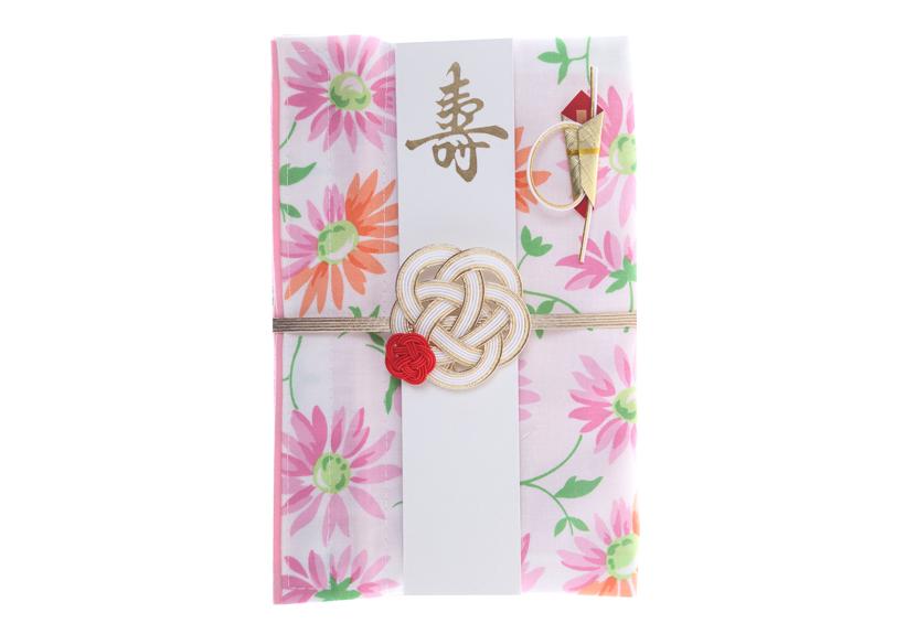 ご祝儀袋 結姫 musubime 白梅(コットン)花(白)
