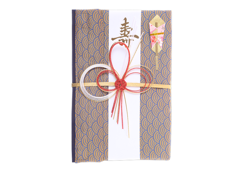 ご祝儀袋 結姫 musubime 青竹(ポリエステル)青海波輝