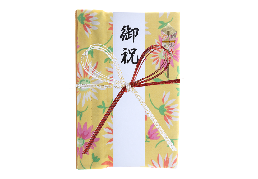 ご祝儀袋 結姫 musubime 白梅(コットン)花(黄色) 蝶