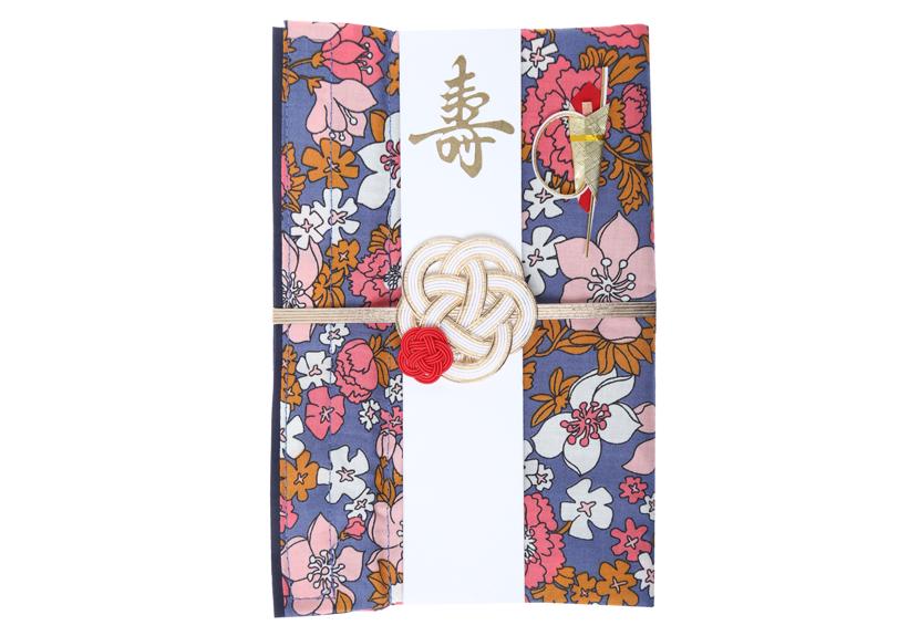 ご祝儀袋 結姫 musubime 白梅(コットン)万福(青)