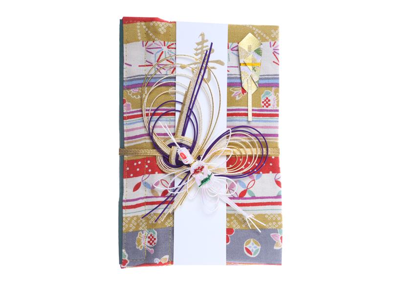 ご祝儀袋 結姫 musubime 白梅(コットン)黄縞和柄