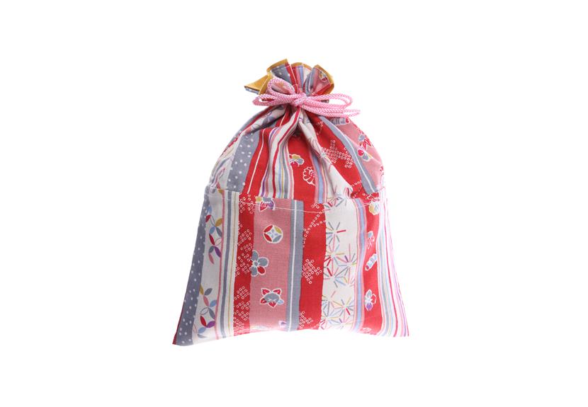 ご祝儀袋 結姫 musubime 白梅(コットン)赤縞和柄