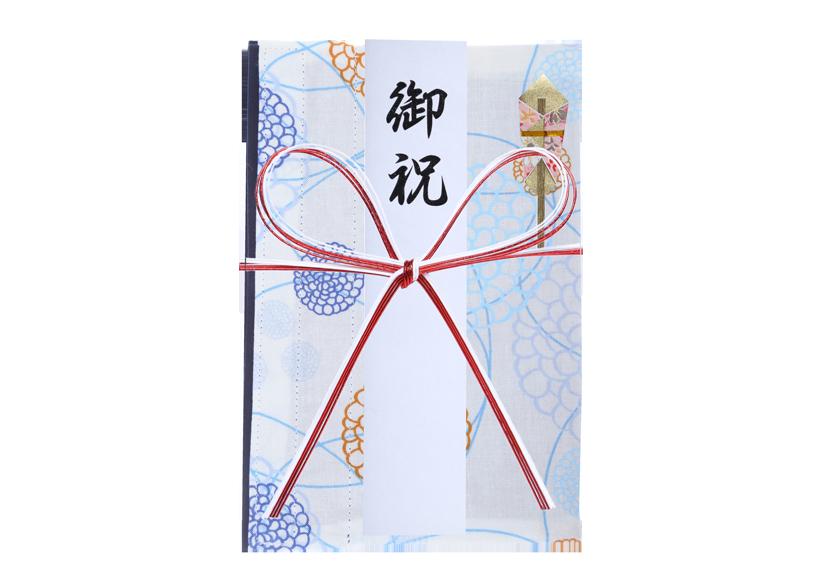 ご祝儀袋 結姫 musubime 白梅(コットン)洋花(白) 蝶