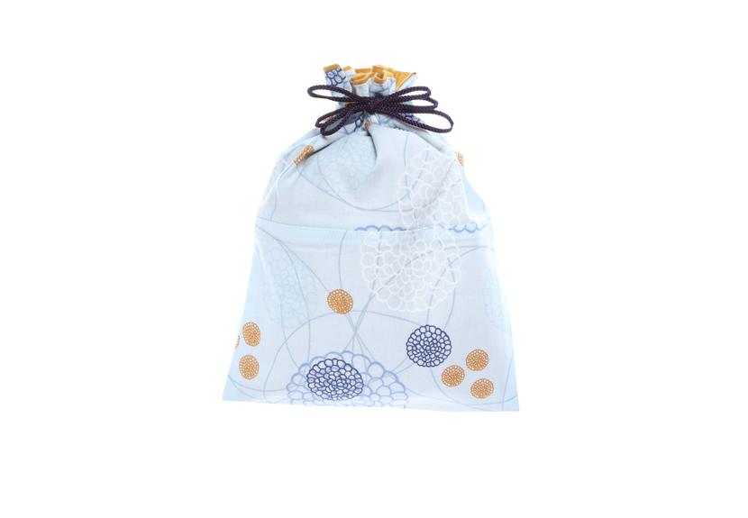 ご祝儀袋 結姫 musubime 白梅(コットン)洋花(水色) 蝶