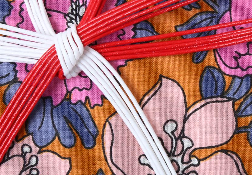 ご祝儀袋 結姫 musubime 白梅(コットン)万福(橙) 蝶