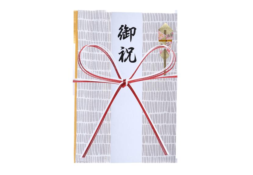 ご祝儀袋 結姫 musubime 白梅(コットン)格子(白) 蝶