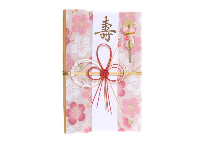 ご祝儀袋 結姫 musubime 青竹(ポリエステル)白桃福梅