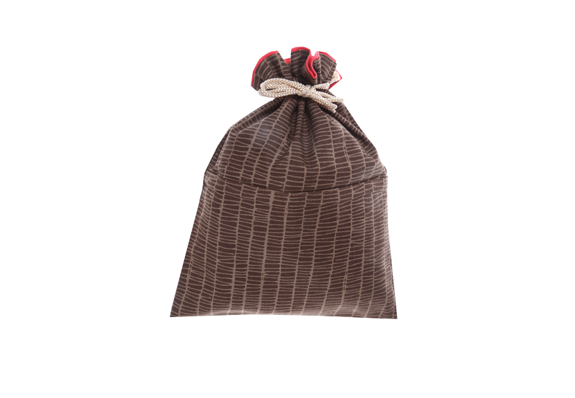 ご祝儀袋 結姫 musubime 白梅(コットン)格子(茶) 蝶