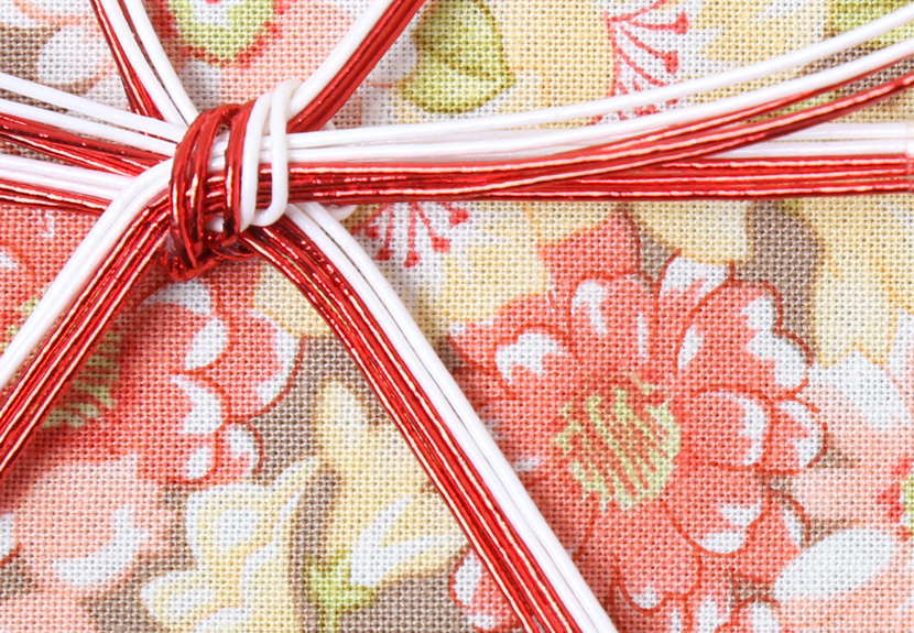 ご祝儀袋 結姫 musubime 白梅(コットン)弥栄(ベージュ) 蝶