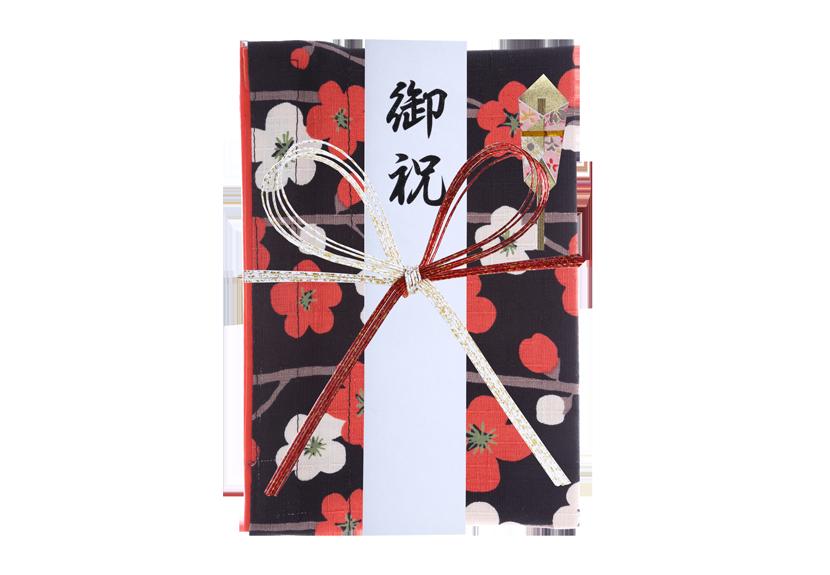ご祝儀袋 結姫 musubime 白梅(コットン)紅白横梅 蝶