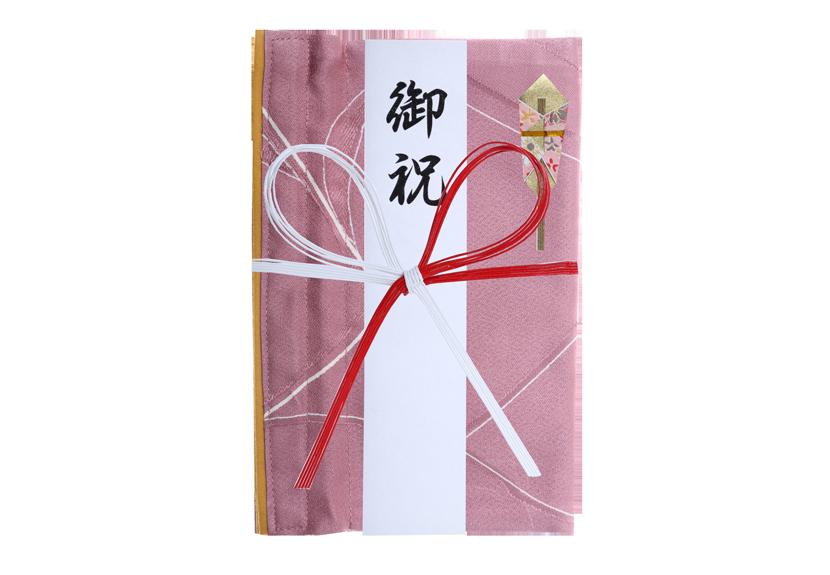 ご祝儀袋 結姫 musubime 赤松(シルク)桃枝舞散 蝶