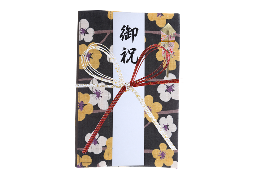 ご祝儀袋 結姫 musubime 白梅(コットン)黄白横梅 蝶
