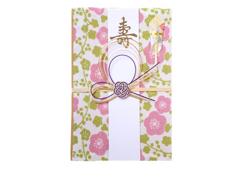 ご祝儀袋 結姫 musubime 青竹(ポリエステル)小梅絵蕾