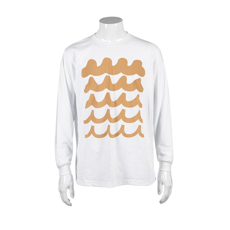 WAVE ロングスリーブTシャツ【ホワイト】