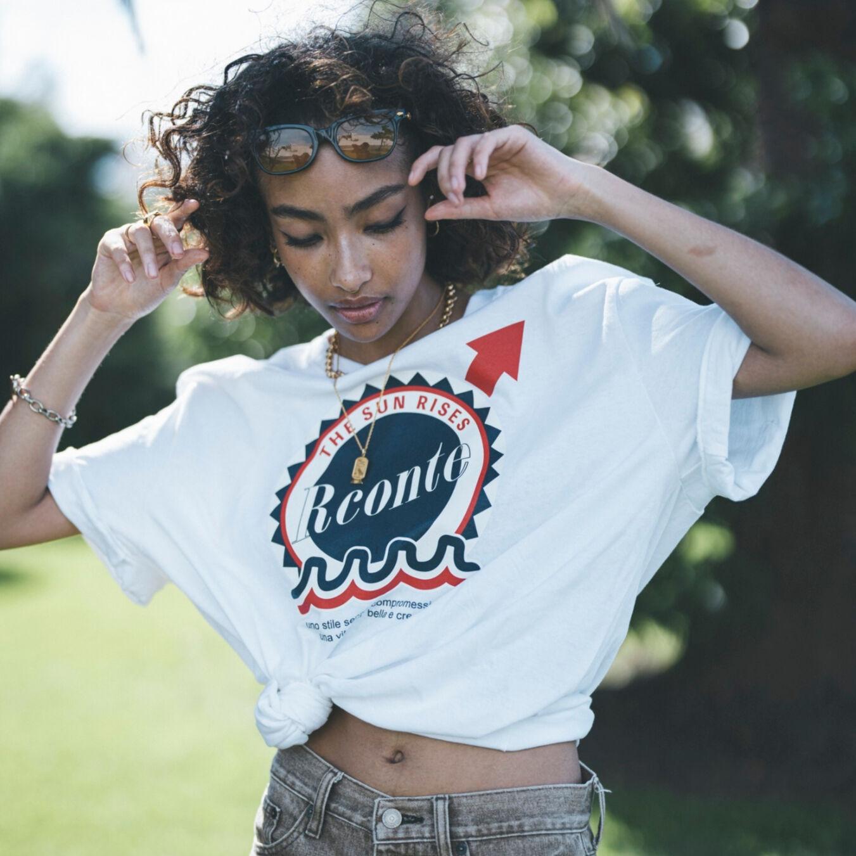 Rconte x muta MARINE サークルロゴTシャツ【全2色】