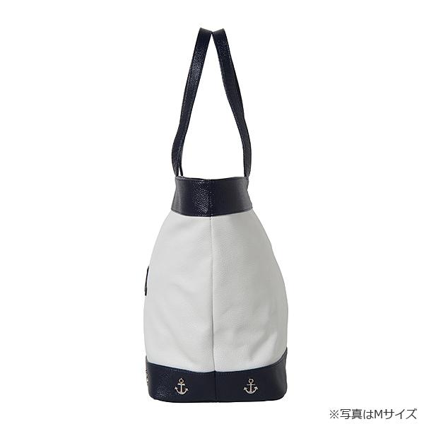 トートバッグ・カーフ革【ホワイト/ネイビー】