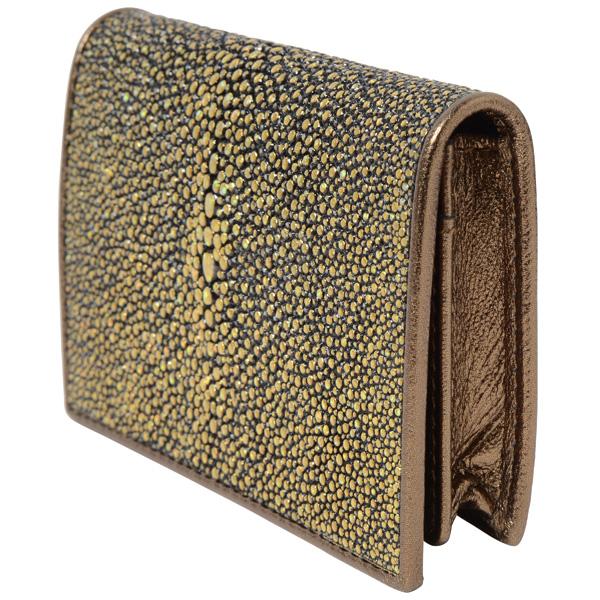 ガルーシャ・カードケース厚型(ゴールドブラック)