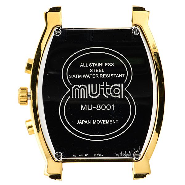 MU8001クォーツクロノグラフ本体【イエローゴールド/アイボリー/イエローゴールド】
