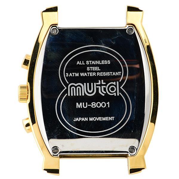 MU8001クォーツクロノグラフ本体【イエローゴールド/ブルー/イエローゴールド】