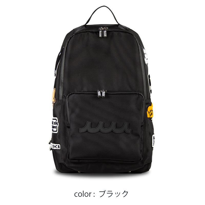 ワッペン バックパック【ブラック】