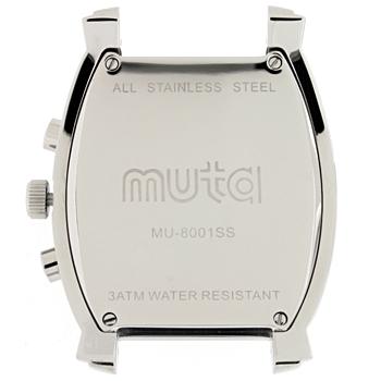 MU8001クォーツクロノグラフ本体【ステンレスシルバー/ブラック/レッド】