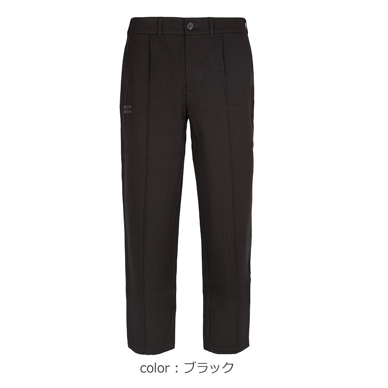 ポンチワイドスラックスパンツ【全3色】
