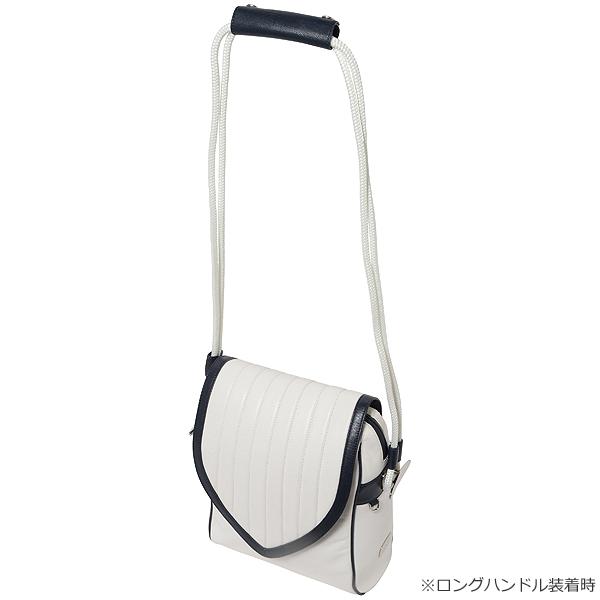 クリートショルダーバッグ・ゴート革【ホワイト】