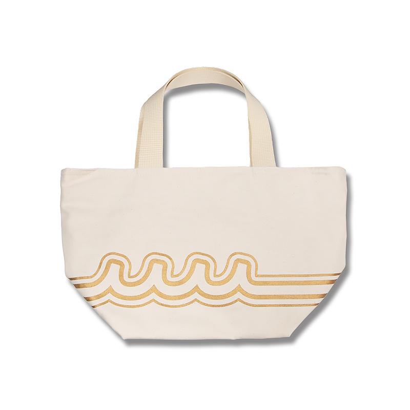 WAVE LINE エコバッグ【ホワイト/ベージュ】