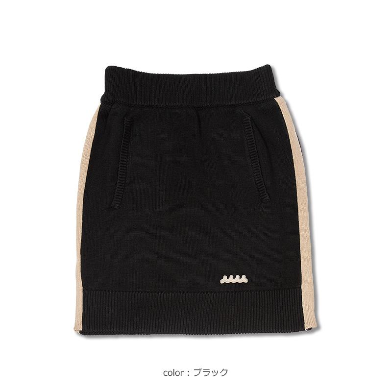 ラインニットスカート【全3色】