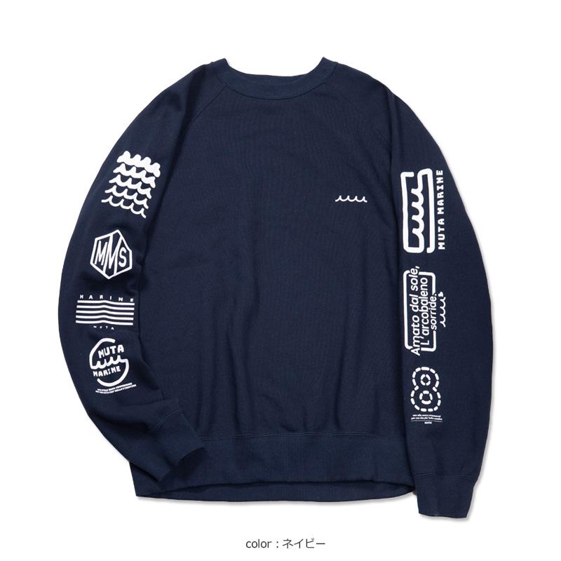 スリーブロゴ クルーネックスウェット(A)【全4色】