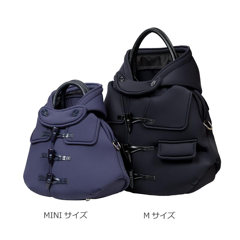 ダッフルコートバッグ・ネオプレーン【ブラック】