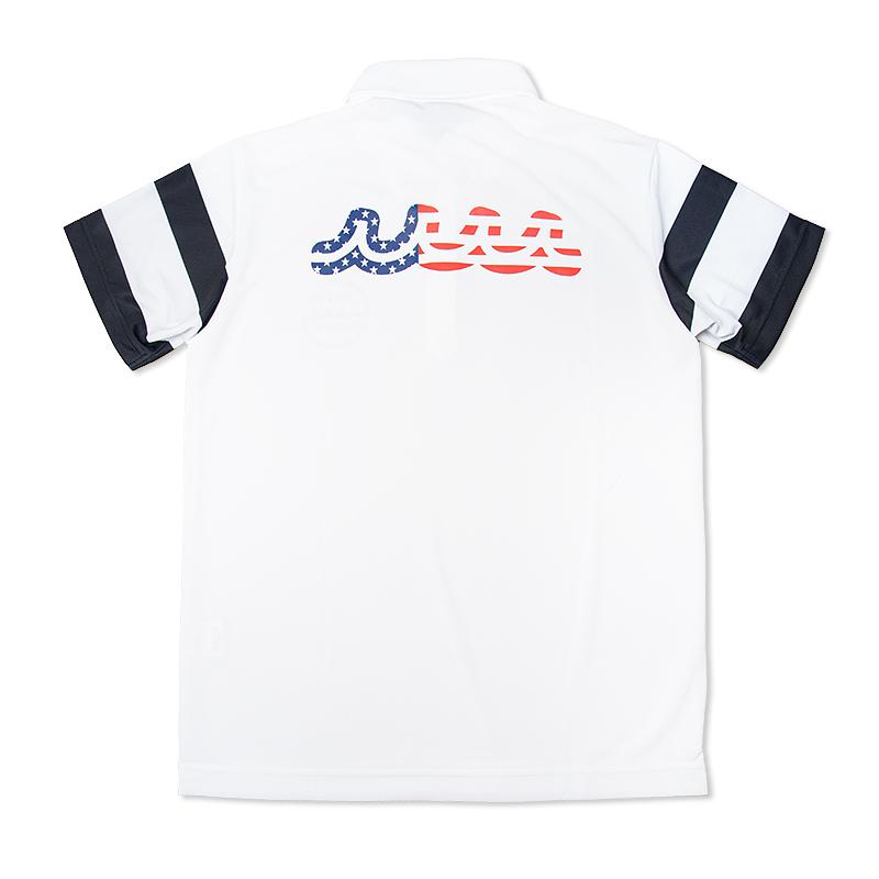 ボーダースリーブ US WAVE ポロシャツ【全2色】