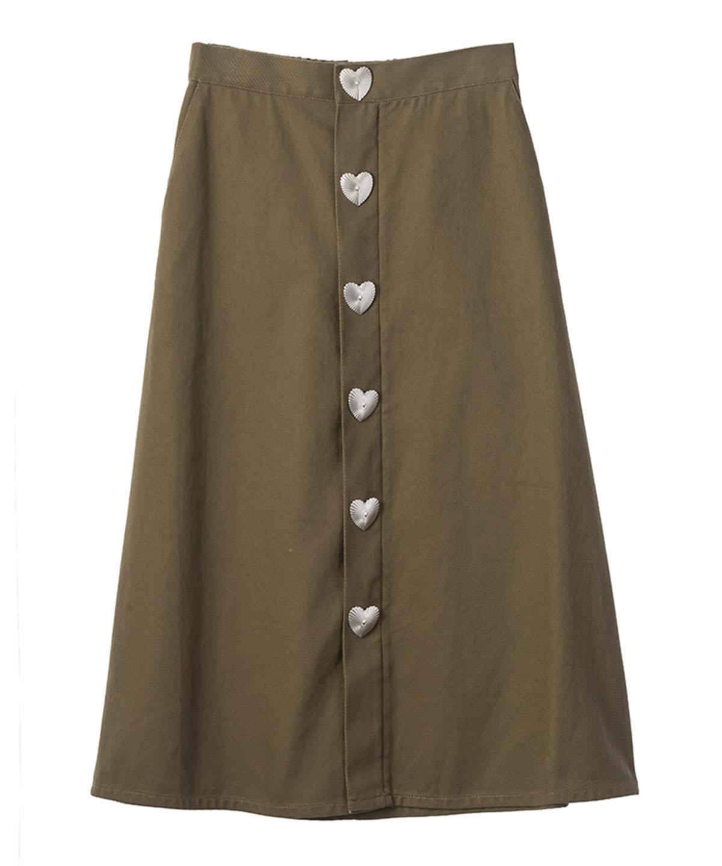 コンチョボタンスカート