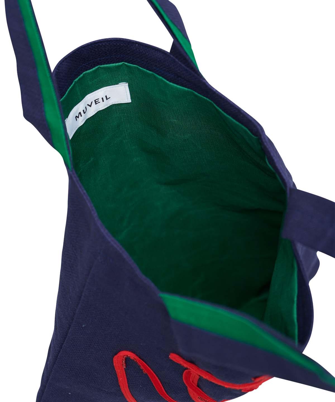 ペンギン刺繍トート