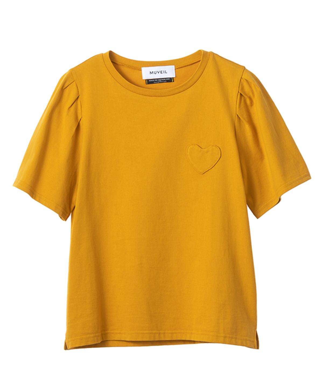ハートパッチTシャツ