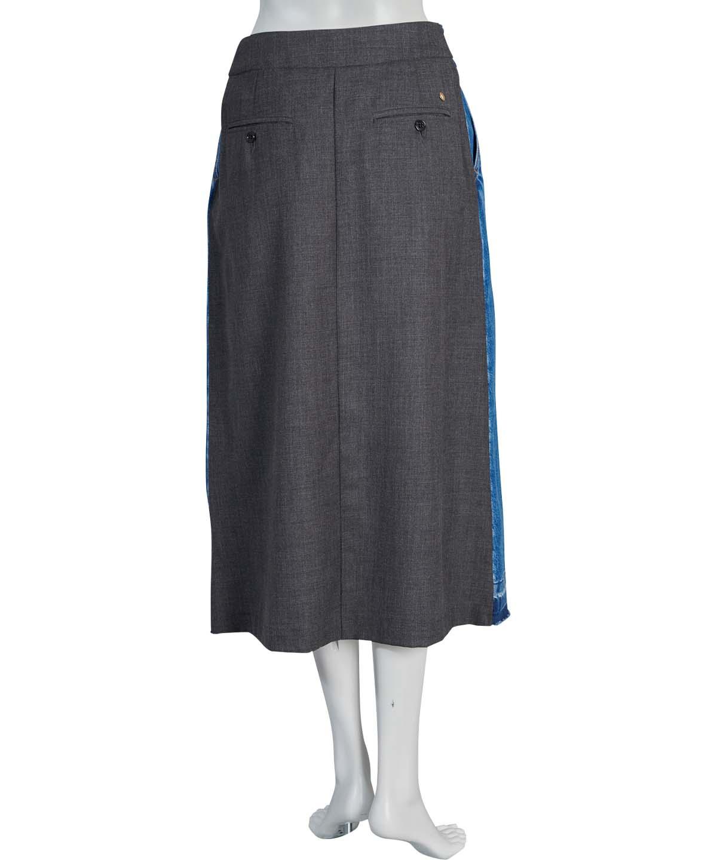 デニムコンビスカート