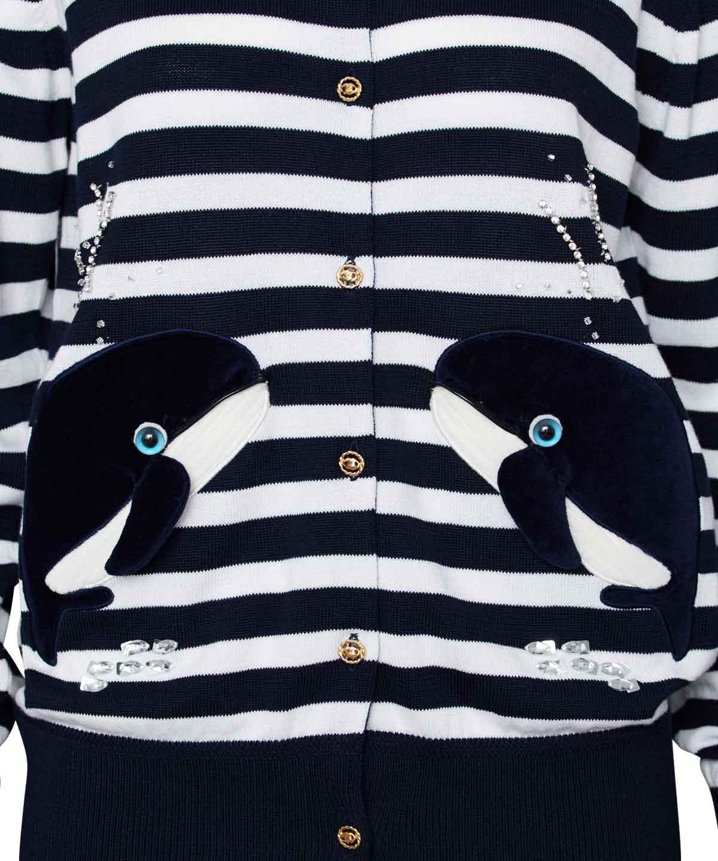 クジラモチーフカーディガン