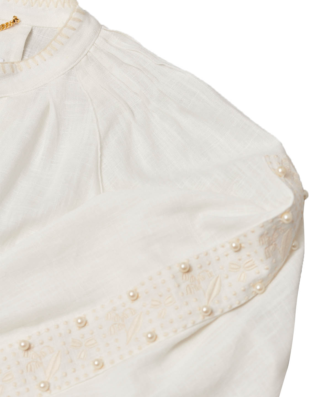 スズラン刺繍コートワンピース