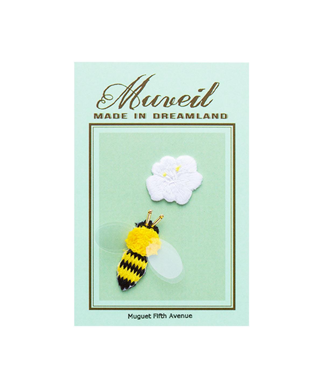 ハチ花ワッペンセット