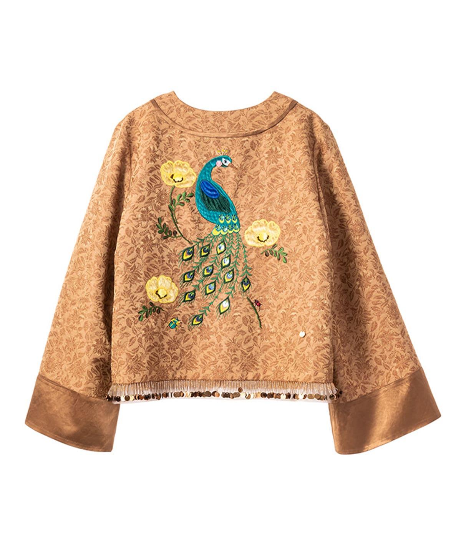 鳳凰刺繍チャイナジャケット