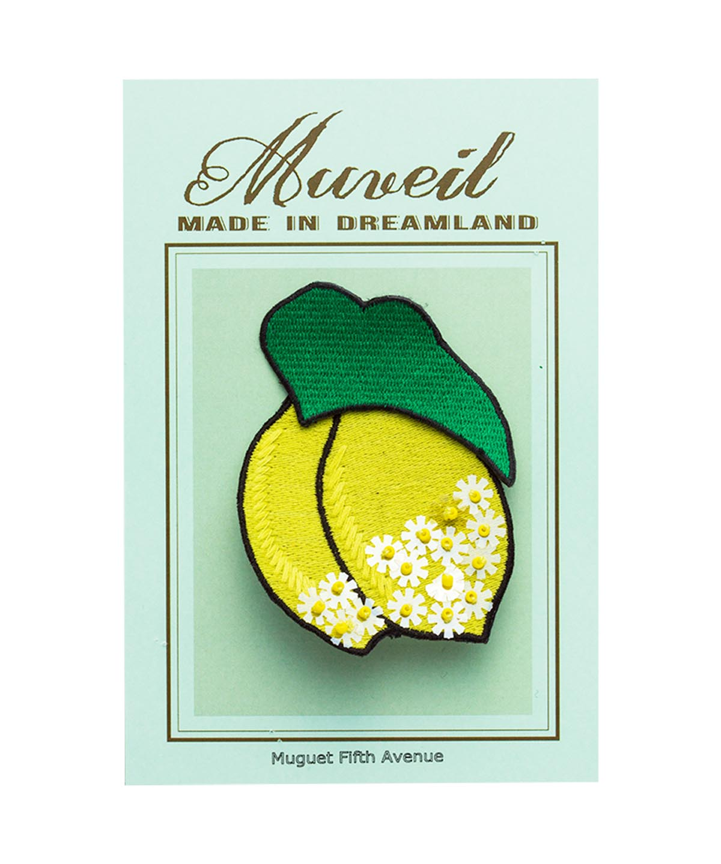 レモン葉っぱワッペンセット