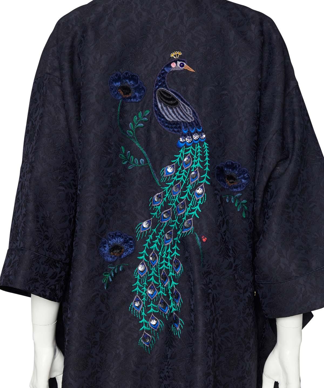 鳳凰刺繍チャイナガウン