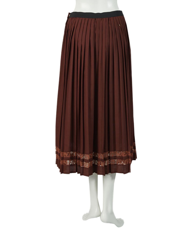 フロントボタンプリーツスカート