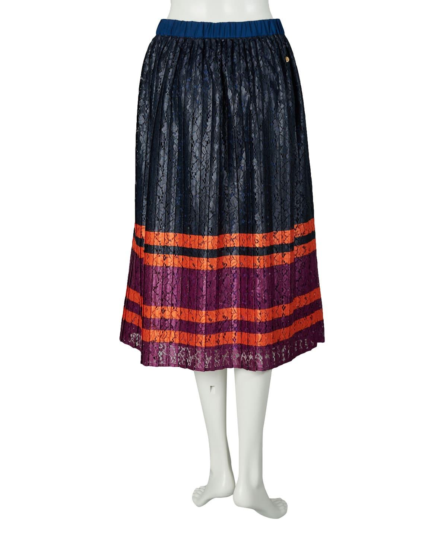 ボーダーレーススカート
