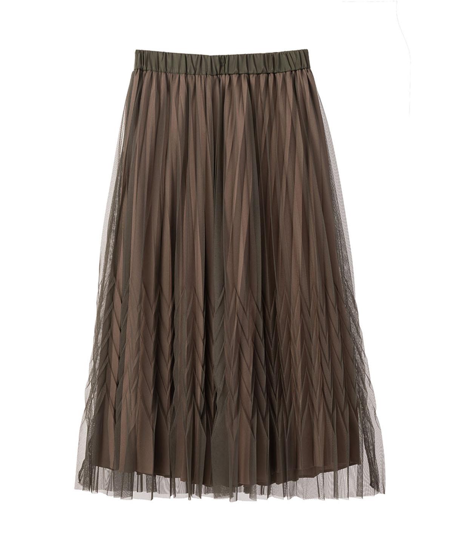 ヘリンボーンプリーツスカート